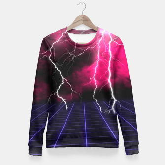 Thumbnail image of Ride the Lightning Fitted Waist Sweater, Live Heroes