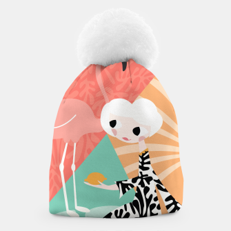 Thumbnail image of Girl with flamingo, 003 Beanie, Live Heroes