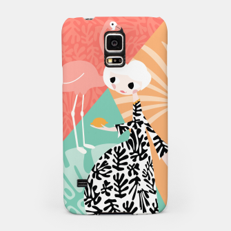 Thumbnail image of Girl with flamingo, 003 Samsung Case, Live Heroes