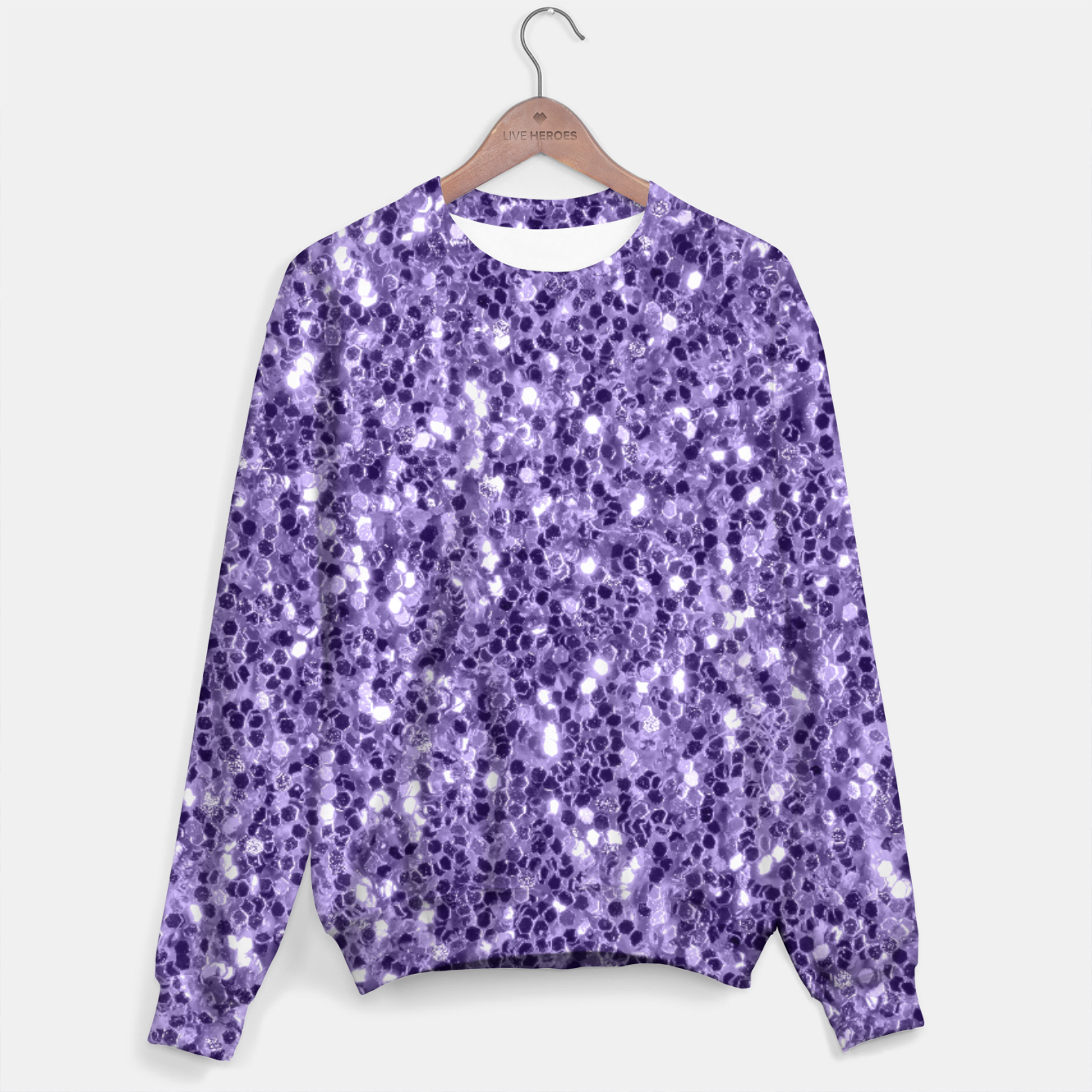 Image of Ultra violet purple glitter sparkles Sweater - Live Heroes