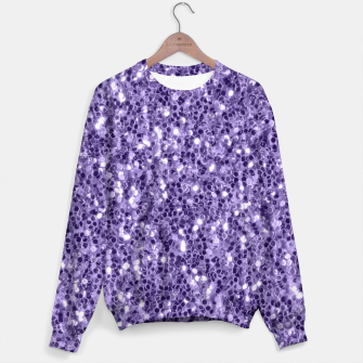 Thumbnail image of Ultra violet purple glitter sparkles Sweater, Live Heroes