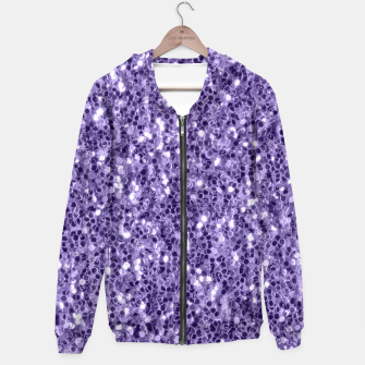 Thumbnail image of Ultra violet purple glitter sparkles Hoodie, Live Heroes