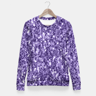 Thumbnail image of Ultra violet purple glitter sparkles Fitted Waist Sweater, Live Heroes