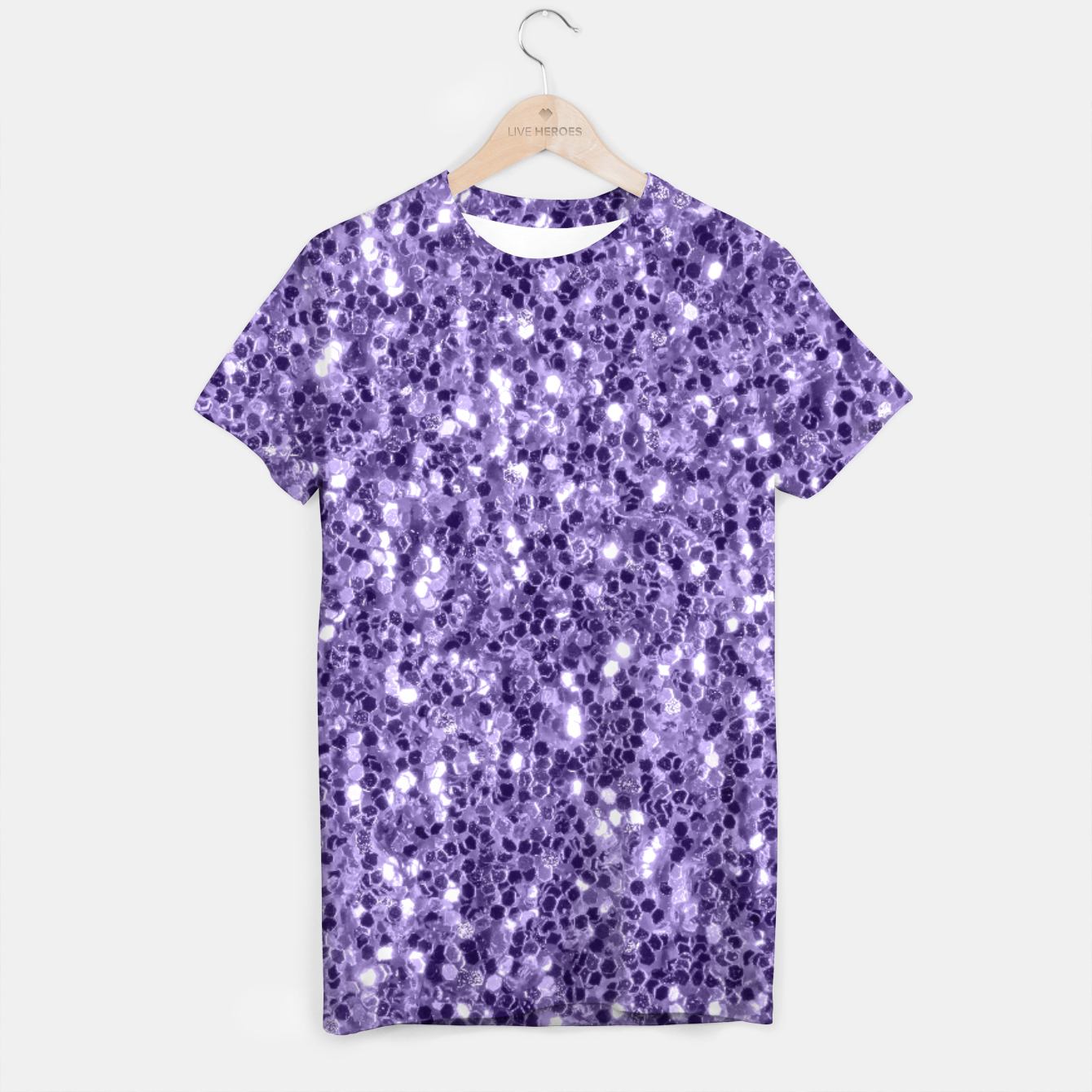 Image of Ultra violet purple glitter sparkles T-shirt - Live Heroes