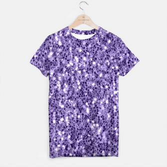 Thumbnail image of Ultra violet purple glitter sparkles T-shirt, Live Heroes