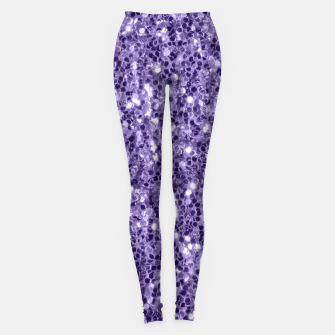 Thumbnail image of Ultra violet purple glitter sparkles Leggings, Live Heroes
