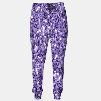 Thumbnail image of Ultra violet purple glitter sparkles Sweatpants, Live Heroes
