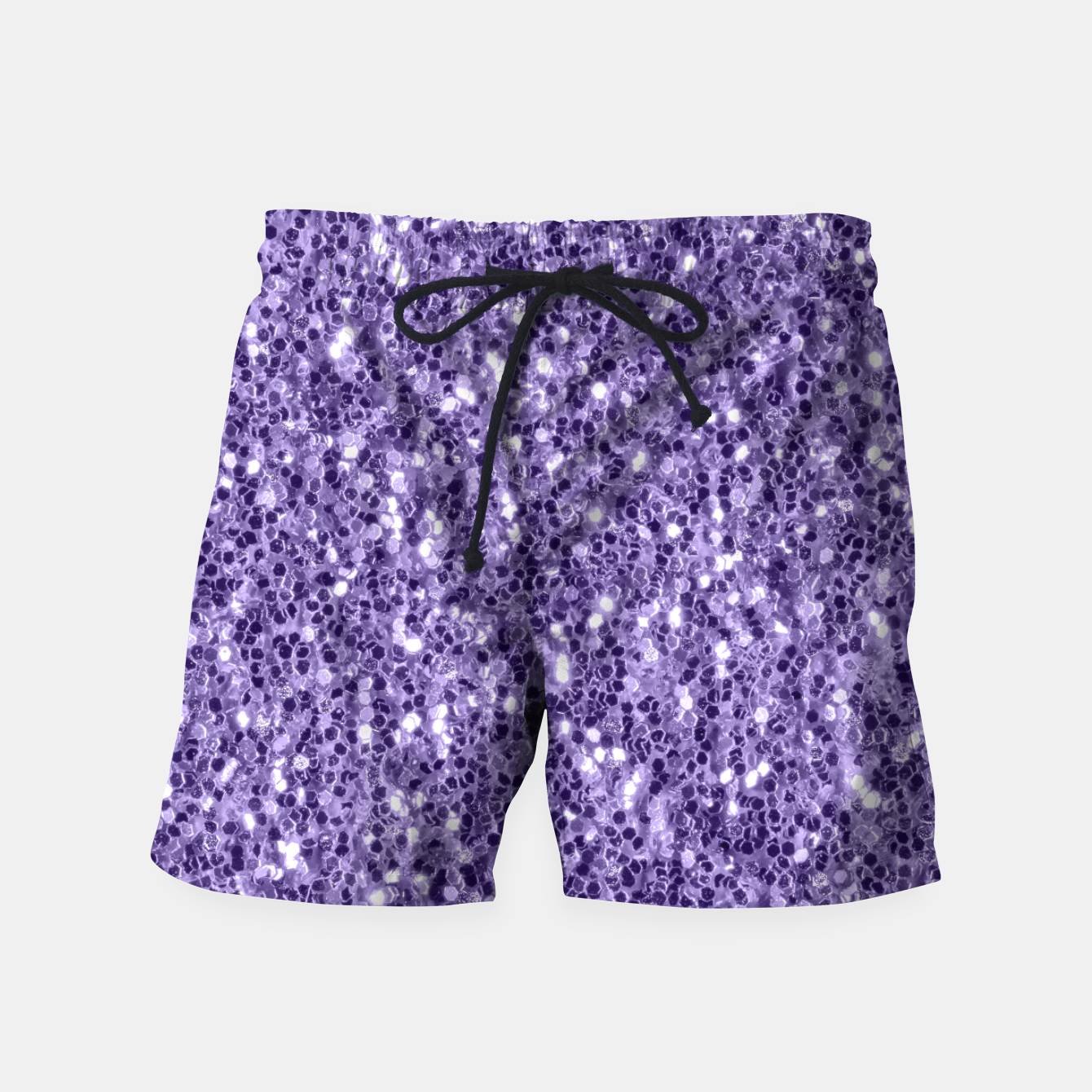 Image of Ultra violet purple glitter sparkles Swim Shorts - Live Heroes