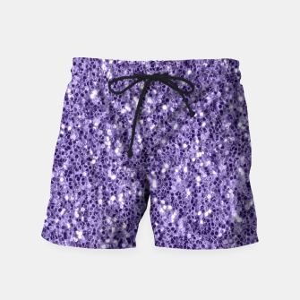 Thumbnail image of Ultra violet purple glitter sparkles Swim Shorts, Live Heroes