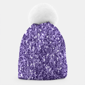 Thumbnail image of Ultra violet purple glitter sparkles Beanie, Live Heroes