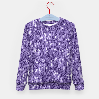 Ultra violet purple glitter sparkles Kid's Sweater thumbnail image
