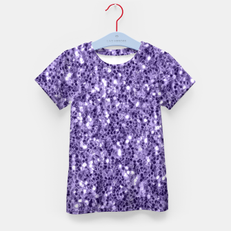 Thumbnail image of Ultra violet purple glitter sparkles Kid's T-shirt, Live Heroes
