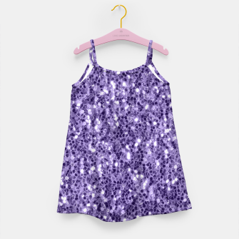 Ultra violet purple glitter sparkles Girl's Dress thumbnail image