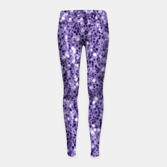 Thumbnail image of Ultra violet purple glitter sparkles Girl's Leggings, Live Heroes