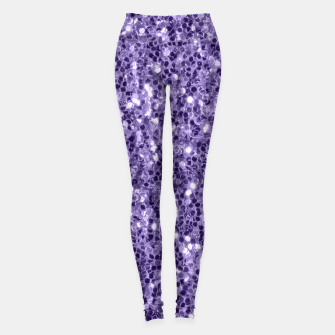 Ultra violet purple glitter sparkles Leggings thumbnail image