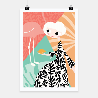 Thumbnail image of Girl with flamingo, 003 Poster, Live Heroes
