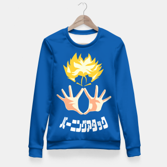 Thumbnail image of Burning Attack Fitted Waist Sweater, Live Heroes