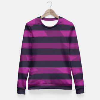 Thumbnail image of Purple Stripes Fitted Waist Sweater, Live Heroes
