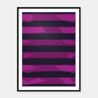 Thumbnail image of Purple Stripes Framed poster, Live Heroes