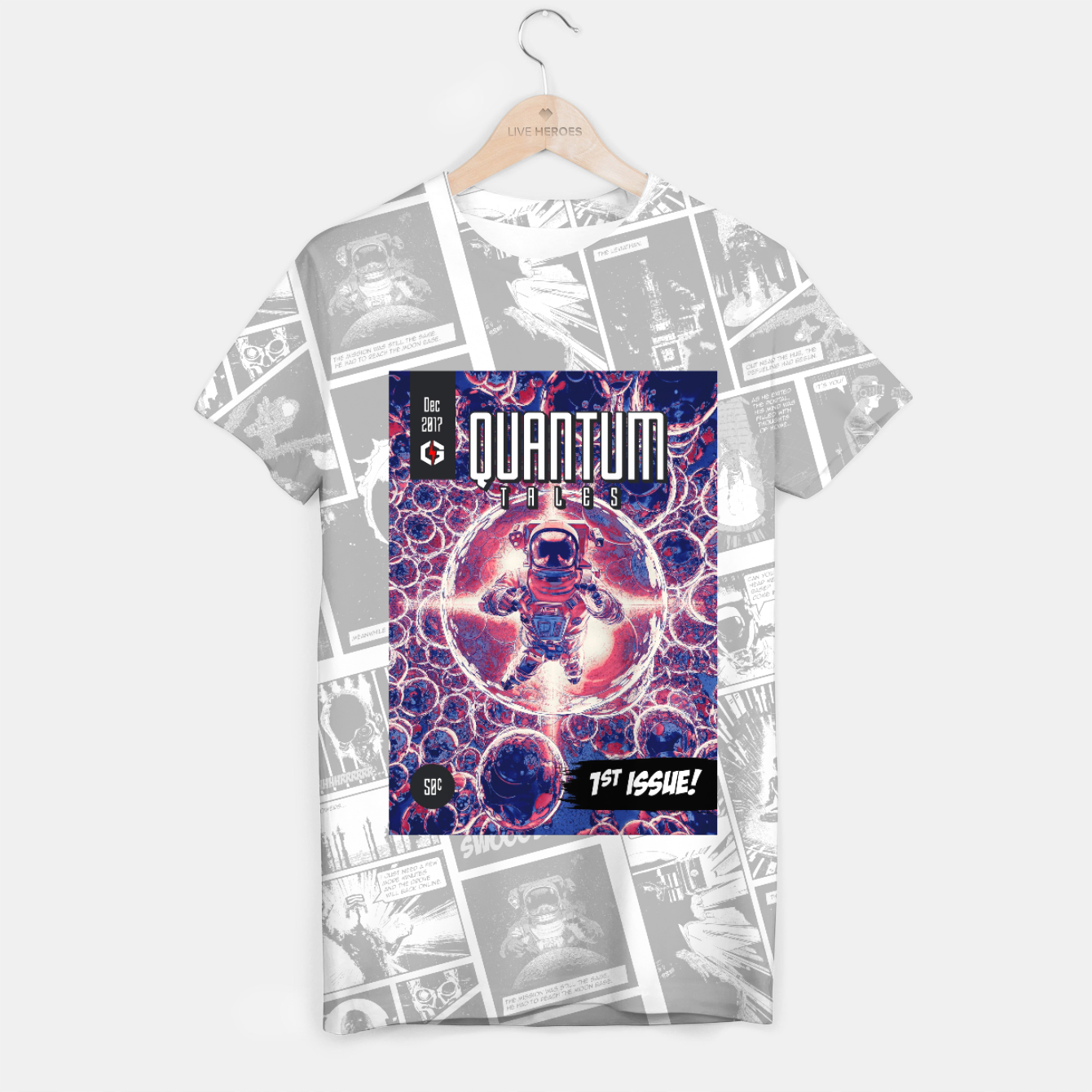 Image of Quantum Tales 1st Issue T-shirt - Live Heroes