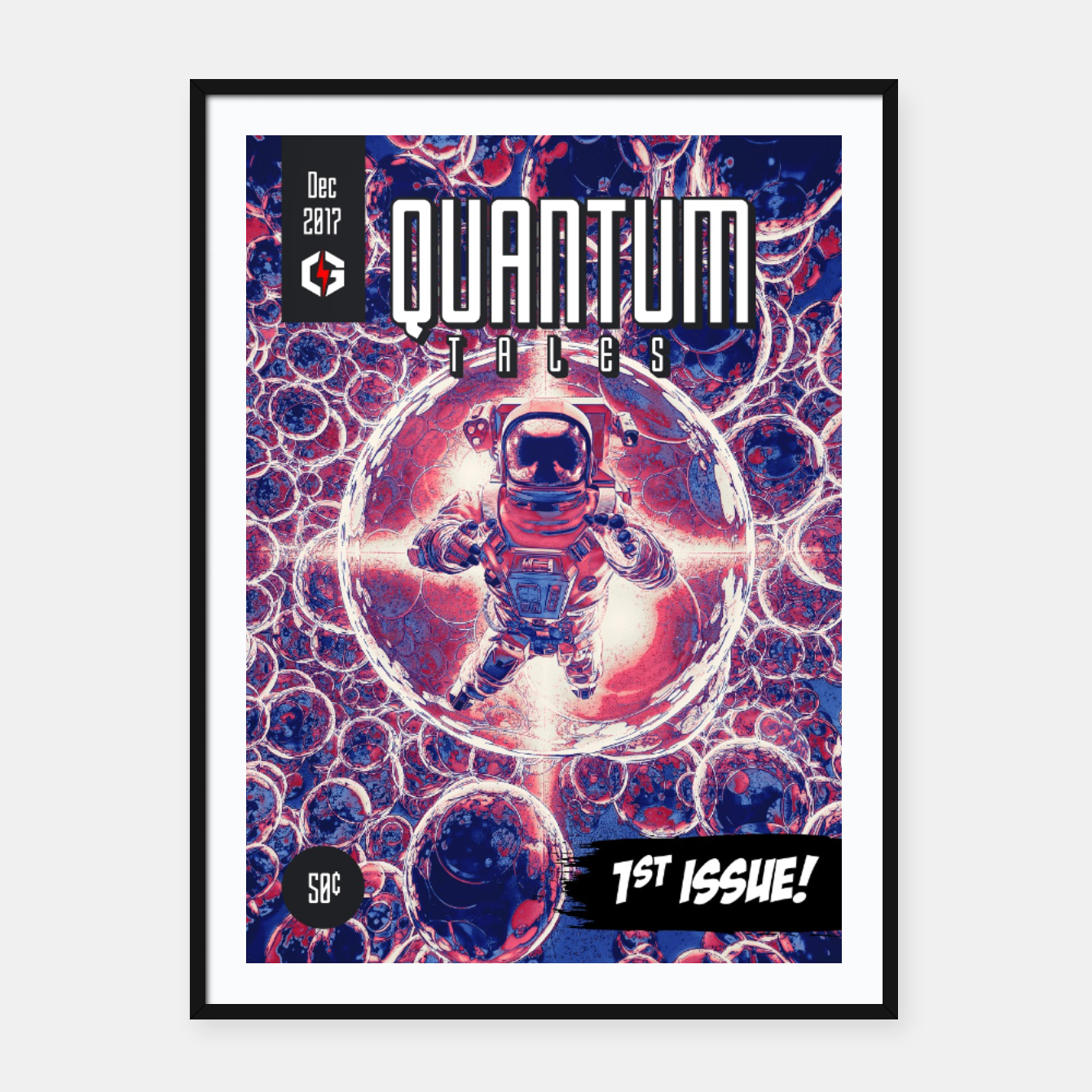 Image of Quantum Tales 1st Issue Framed poster - Live Heroes