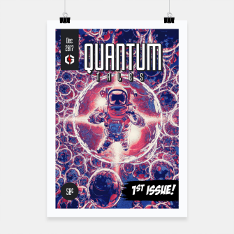 Miniatur Quantum Tales 1st Issue Poster, Live Heroes