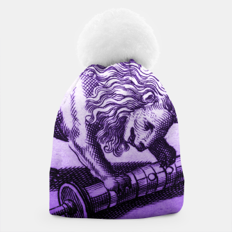Thumbnail image of Purple Lion with Scroll Engraving Beanie, Live Heroes