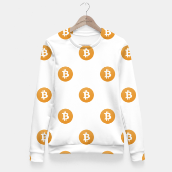 Thumbnail image of Bitcoin Logo Pattern Fitted Waist Sweater, Live Heroes