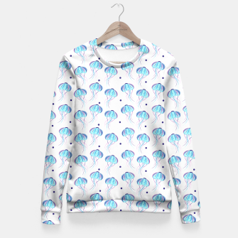 Thumbnail image of Jellyfishes pattern Fitted Waist Sweater, Live Heroes