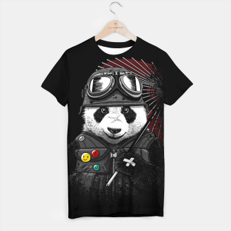 Thumbnail image of Military Soldier Panda  Camiseta, Live Heroes