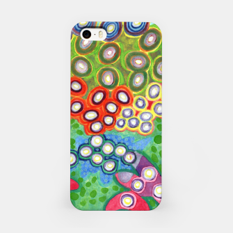 Miniatur Colorful Circles Swimming in Green iPhone Case, Live Heroes