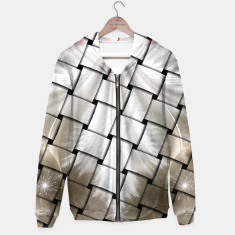 Thumbnail image of Angel Wings Snowflake Weave Hoodie, Live Heroes