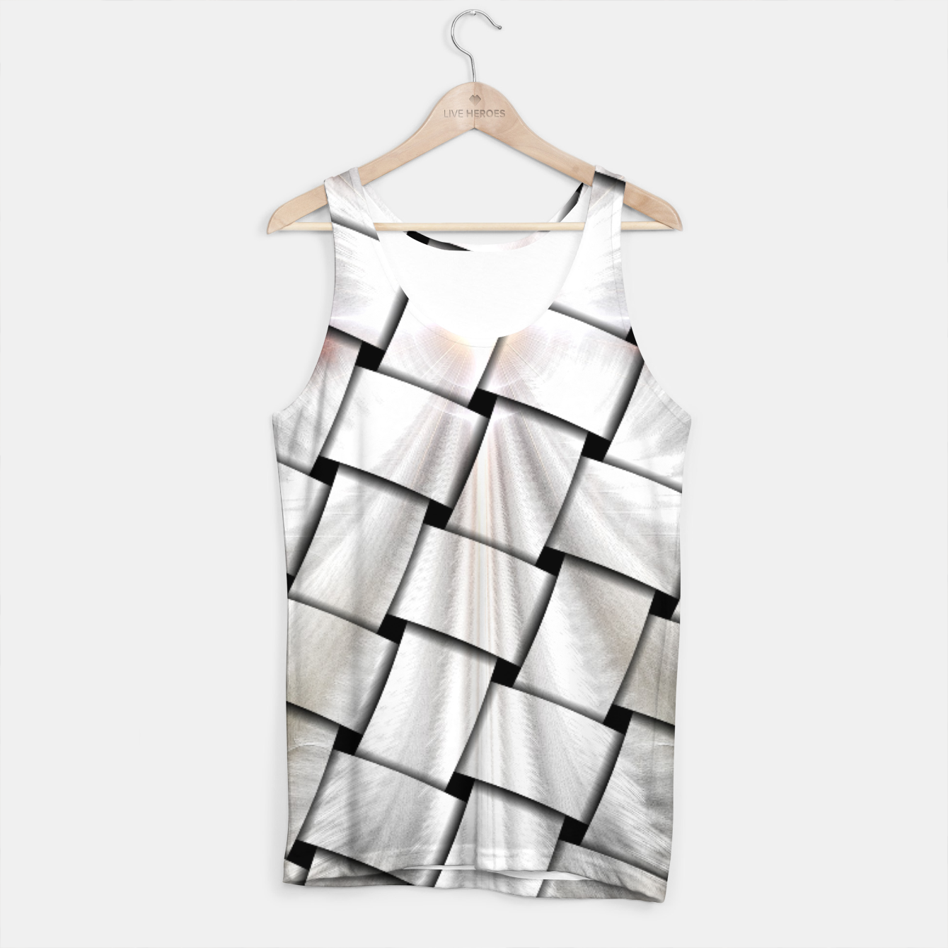 Image of Angel Wings Snowflake Weave Tank Top - Live Heroes