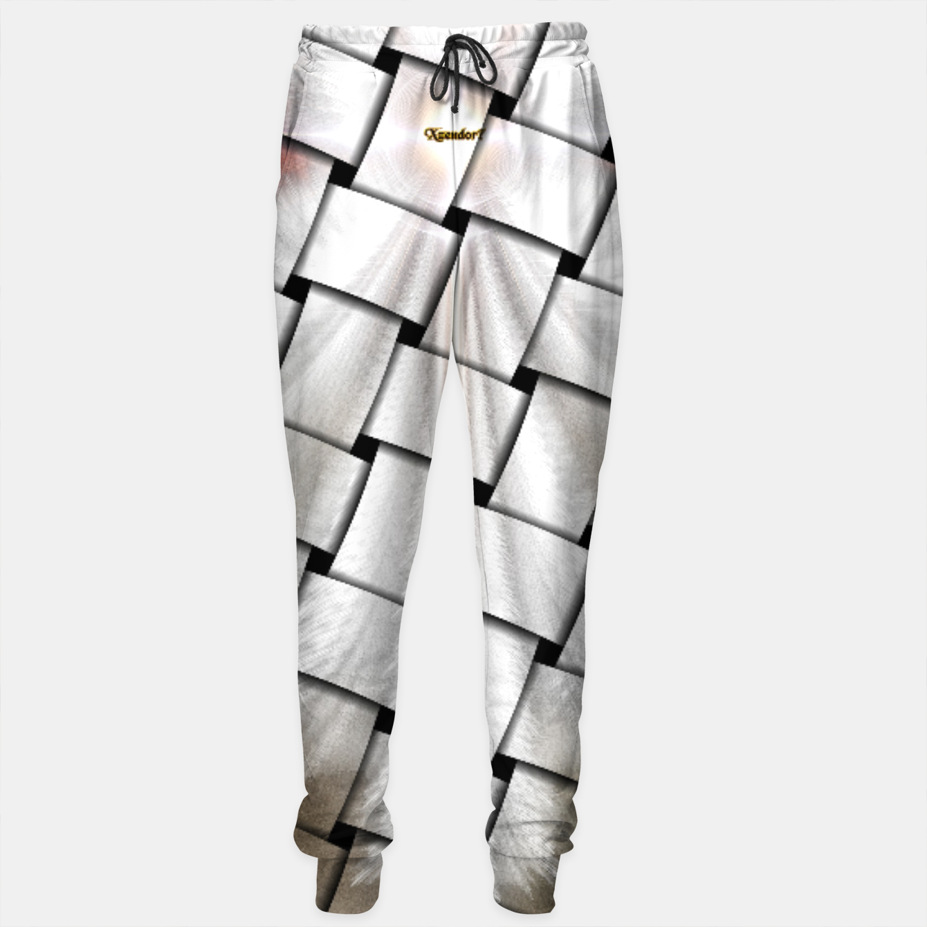 Image of Angel Wings Snowflake Weave Sweatpants - Live Heroes