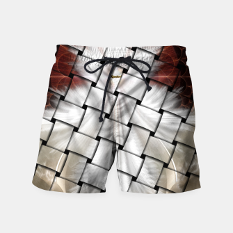 Thumbnail image of Angel Wings Snowflake Weave Swim Shorts, Live Heroes