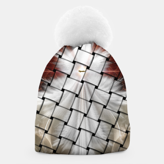 Thumbnail image of Angel Wings Snowflake Weave Beanie, Live Heroes