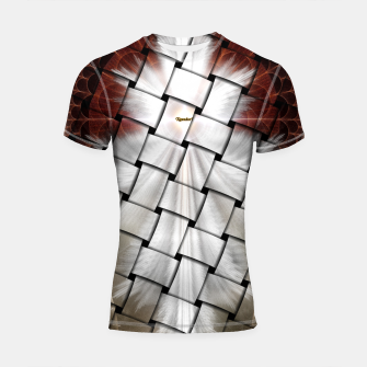 Thumbnail image of Angel Wings Snowflake Weave Shortsleeve Rashguard, Live Heroes