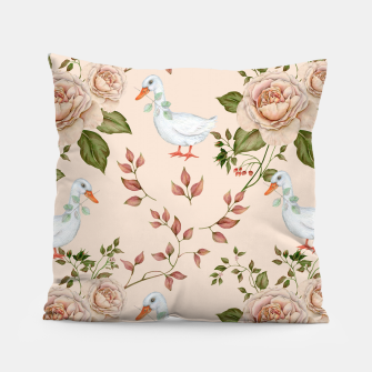Thumbnail image of Goose Rose Pillow, Live Heroes