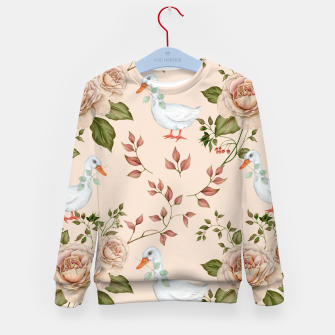 Thumbnail image of Goose Rose Kid's Sweater, Live Heroes
