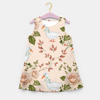 Thumbnail image of Goose Rose Girl's Summer Dress, Live Heroes