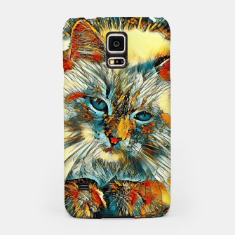 Miniaturka AnimalArt_Cat_010_by_JAMColors Samsung Case, Live Heroes