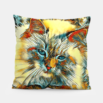 Thumbnail image of AnimalArt_Cat_010_by_JAMColors Pillow, Live Heroes