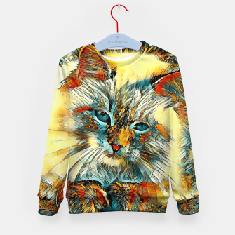 Thumbnail image of AnimalArt_Cat_010_by_JAMColors Kid's Sweater, Live Heroes