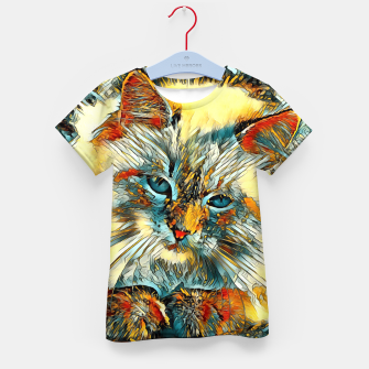 Thumbnail image of AnimalArt_Cat_010_by_JAMColors Kid's T-shirt, Live Heroes