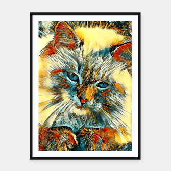 Thumbnail image of AnimalArt_Cat_010_by_JAMColors Framed poster, Live Heroes