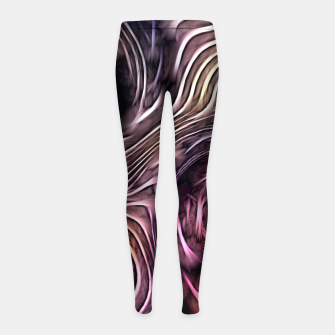 Miniaturka Abstract texture Girl's Leggings, Live Heroes
