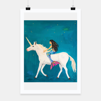 Miniatur Mermaids and Unicorns Poster, Live Heroes