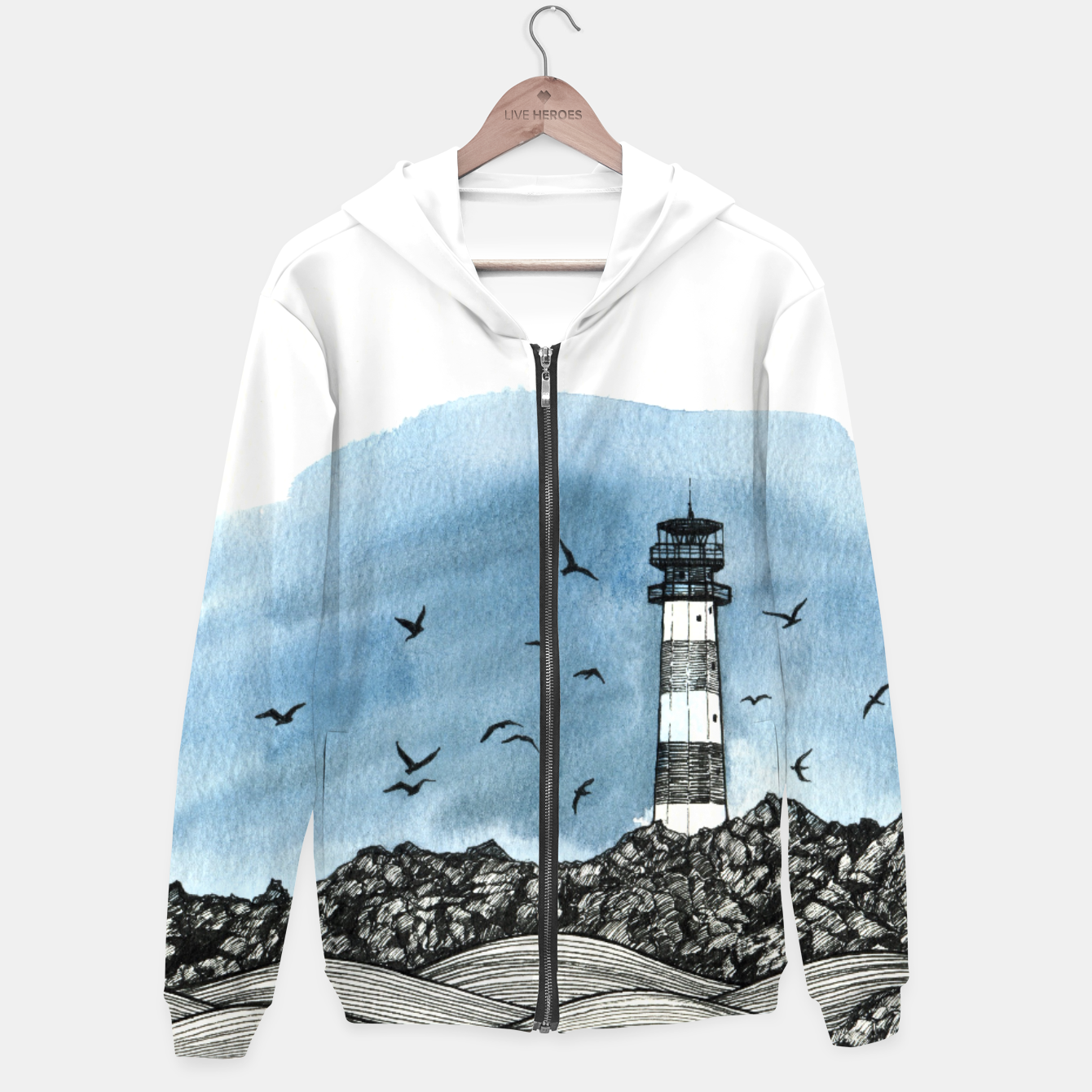 Image of Lighthouse Hoodie - Live Heroes