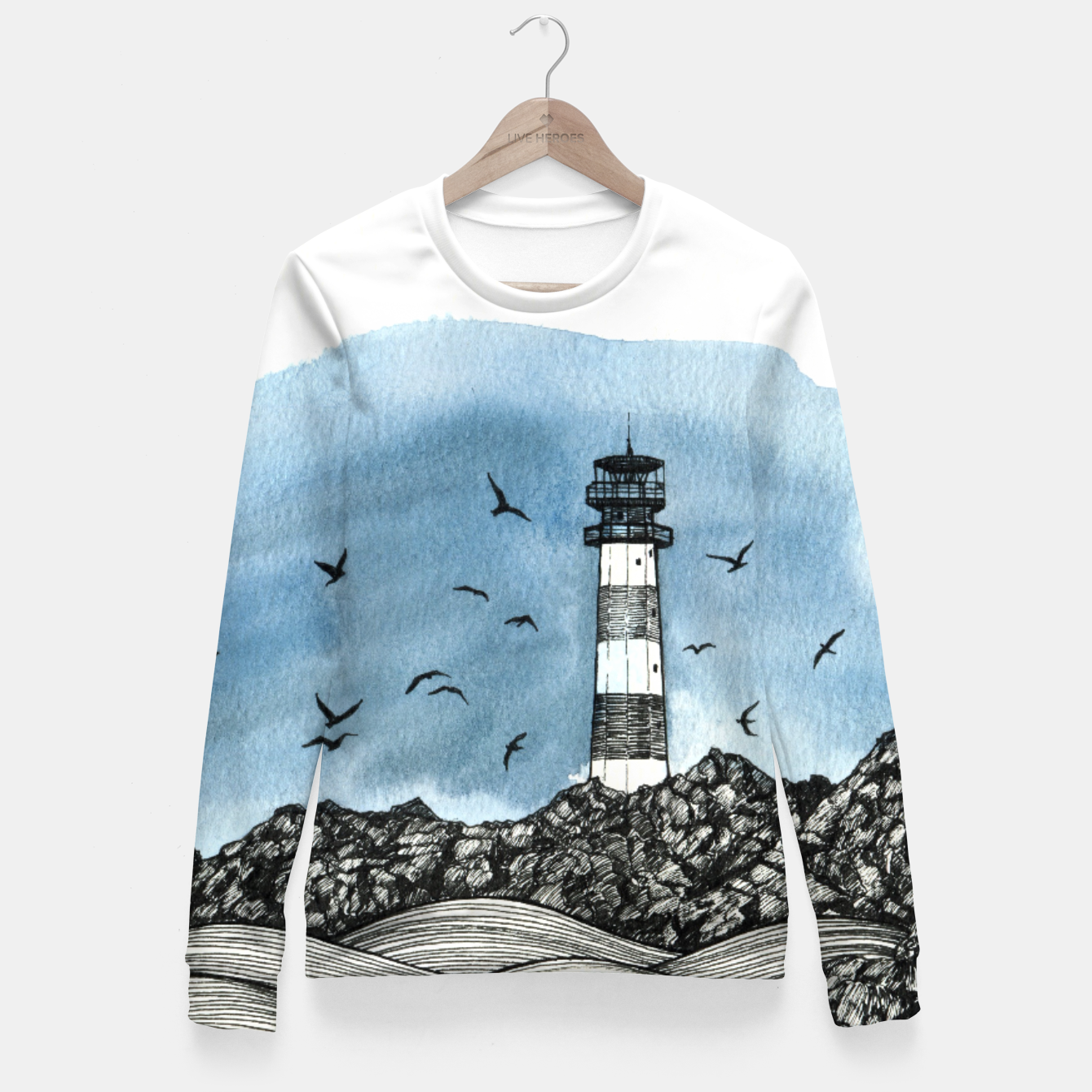 Image of Lighthouse Fitted Waist Sweater - Live Heroes