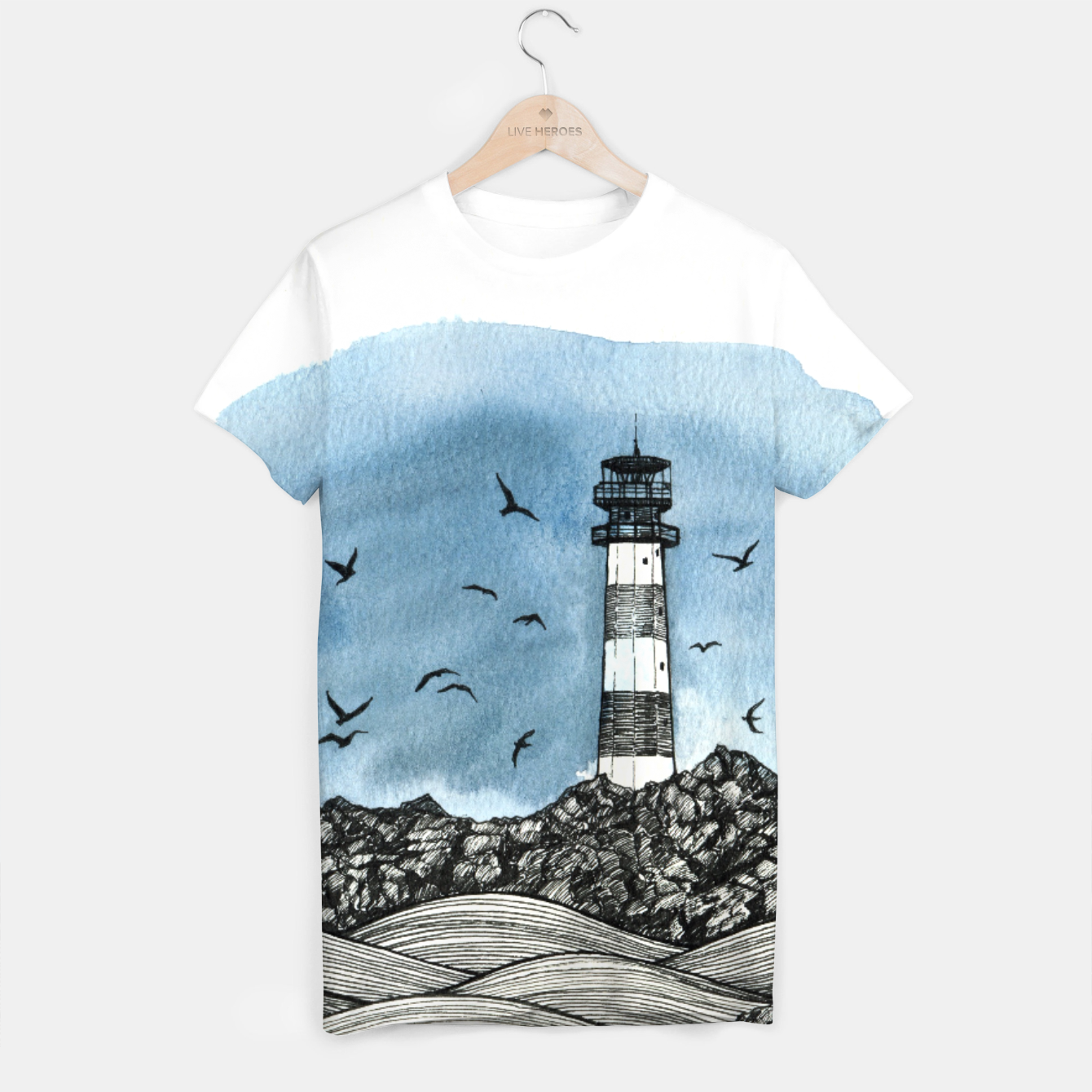 Image of Lighthouse T-shirt - Live Heroes